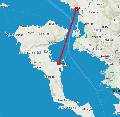 corfu to saranda getting to albania